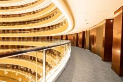 corridor of modern buildings